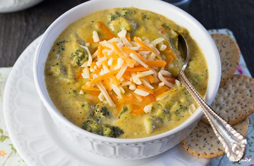 Сырный суп из брокколи
