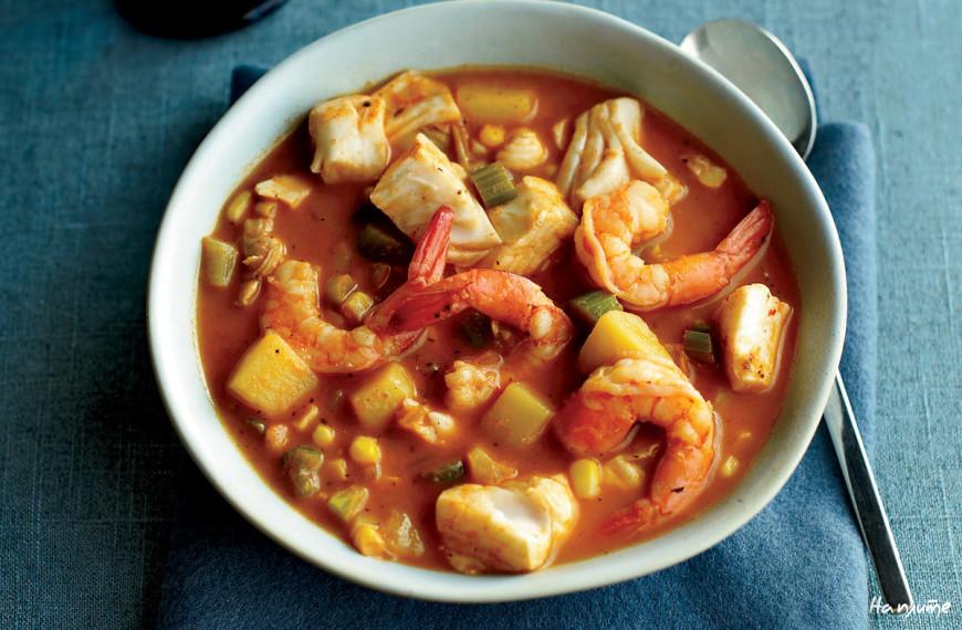 Мексиканский суп из морепродуктов